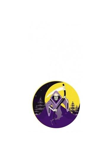 Artikel Kuru kafa ve Ay Desenli Dekoratif Çift Taraflı Yastık Kırlent Kılıfı 45x45 cm Renkli